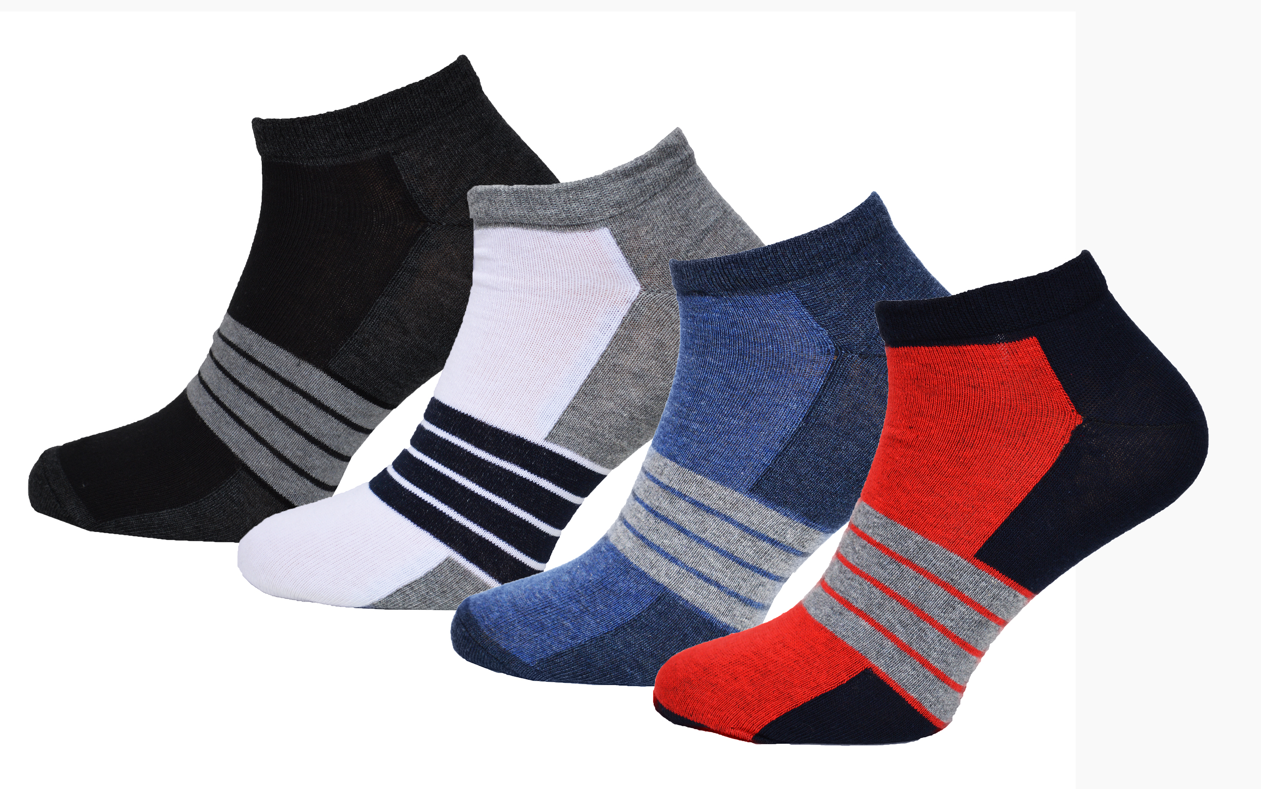 8 paar herren sneaker socken streifen design mit komfortbund sommersocken sneake ebay. Black Bedroom Furniture Sets. Home Design Ideas