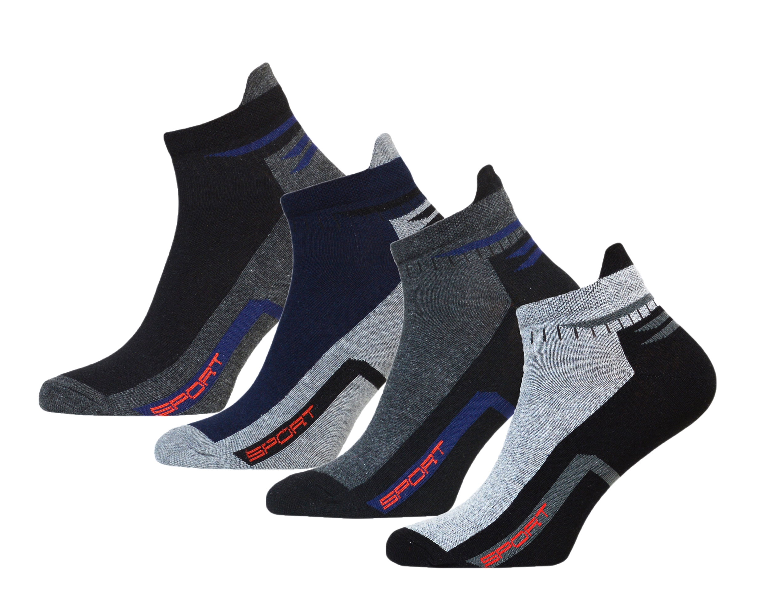 8 paar herren sneaker mit hochferse socken mit komfortbund sommersocken sneaker ebay. Black Bedroom Furniture Sets. Home Design Ideas